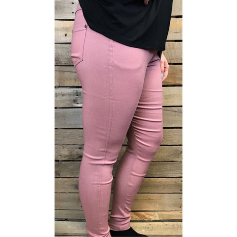 Mauve Stretch Jeggings
