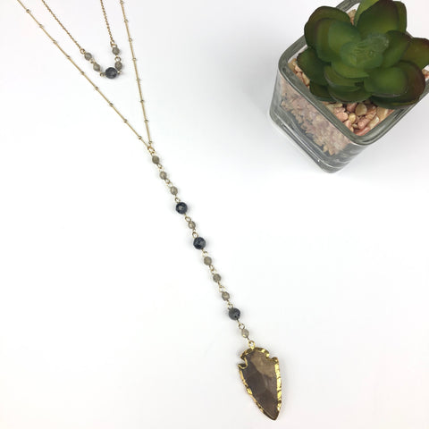 Stone Arrow Necklace