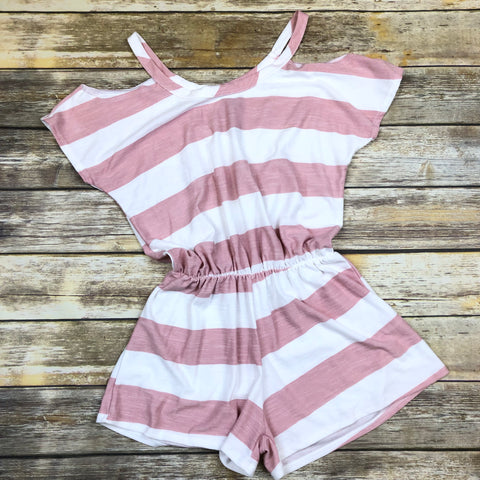 Terry Striped Romper