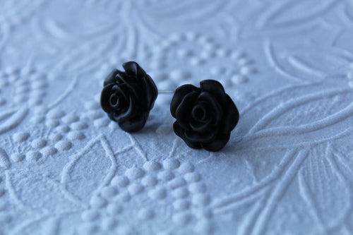 12mm Black Flower