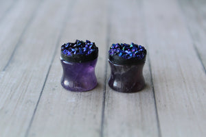 1/2 (12mm) Amethyst Plugs
