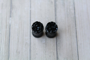 0G (8mm) Black Acrylic Plug