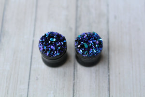 1/2 (12mm) Obsidian Plugs