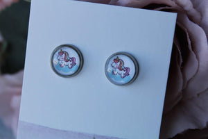 10mm Unicorn Earrings