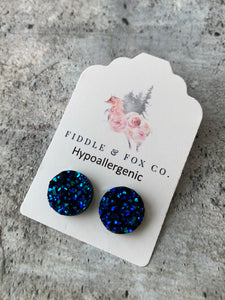 12mm Dark Blue Hypoallergenic
