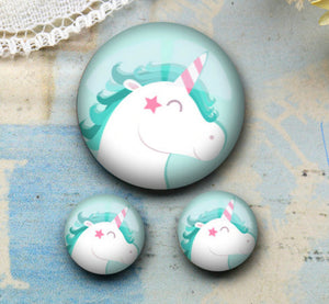 8mm Unicorn Earrings