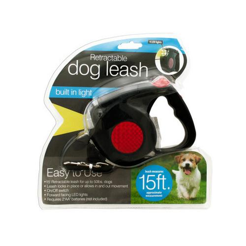Retractable Dog Leash with LED Light ( Case of 2 )