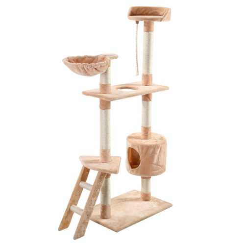 "60"" Tower Kitten Hammock Condo Cat Tree"