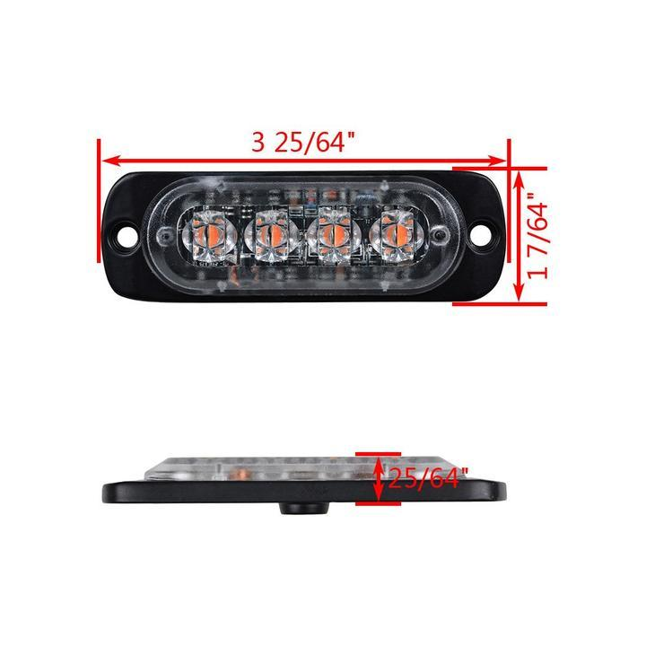 4LED Car Truck Warning Hazard Flash Strobe Light 4-Pack【Holiday promotion】(SAVE $54)
