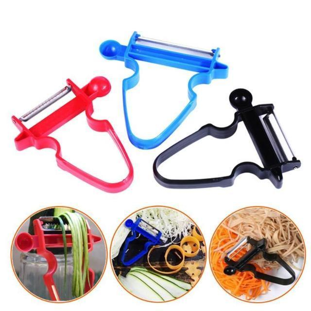 Magic Peeler (Set of 3) - Vegetable, Fruit, Multifunction Kitchen Helper