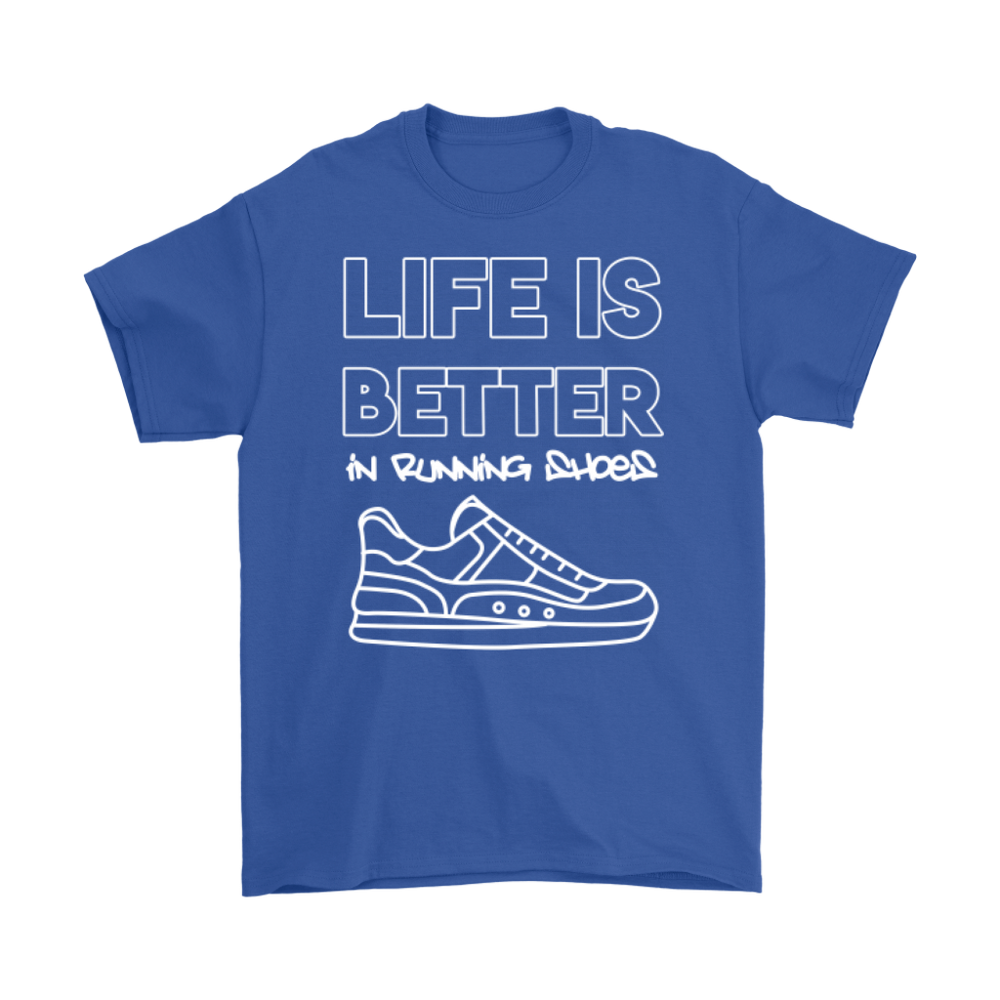 Life is Better in Running Shoes White Tee