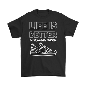 Open image in slideshow, Life is Better in Running Shoes White Tee