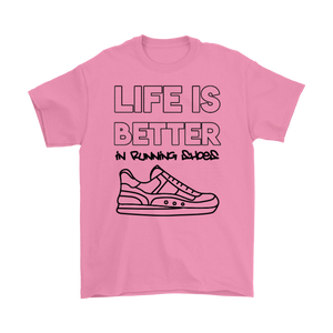 Open image in slideshow, Life is Better in Running Shoes Black Tee