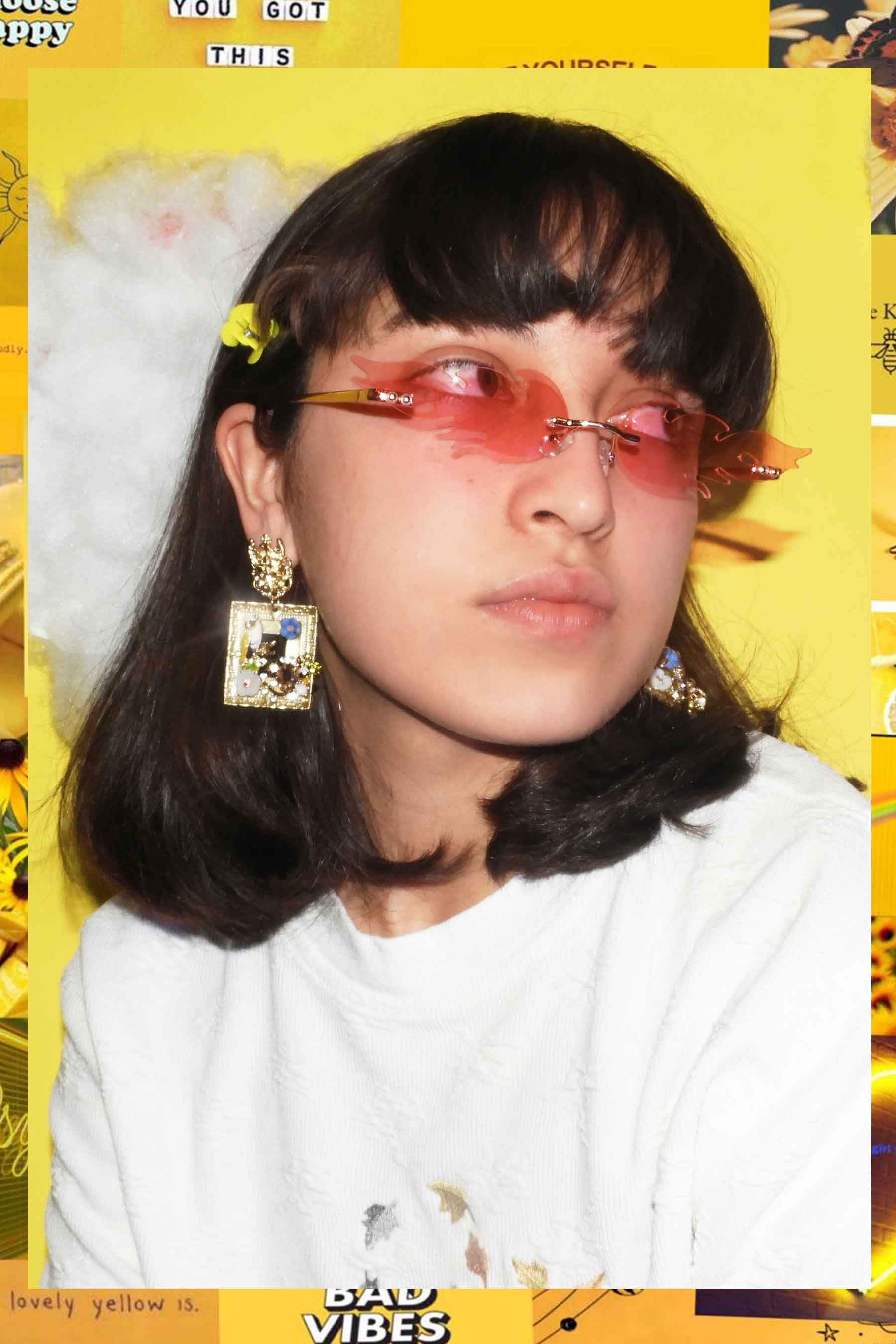 BIRDS & THE BEES FRAME EARRINGS