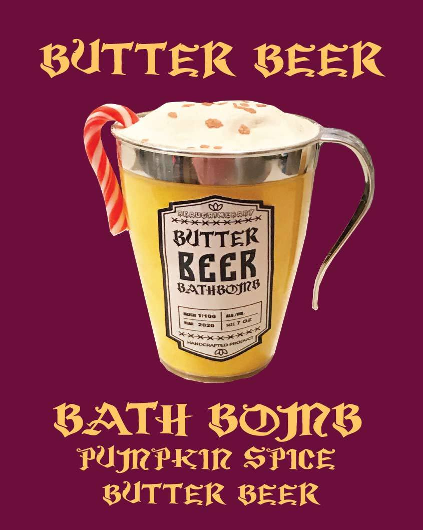 BUTTER BEER BATH BOMB
