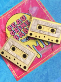 Vintage I ♡ Friend Cassette Earrings