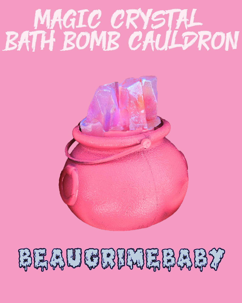 Magical Spell Pink Cauldron Bath Bomb