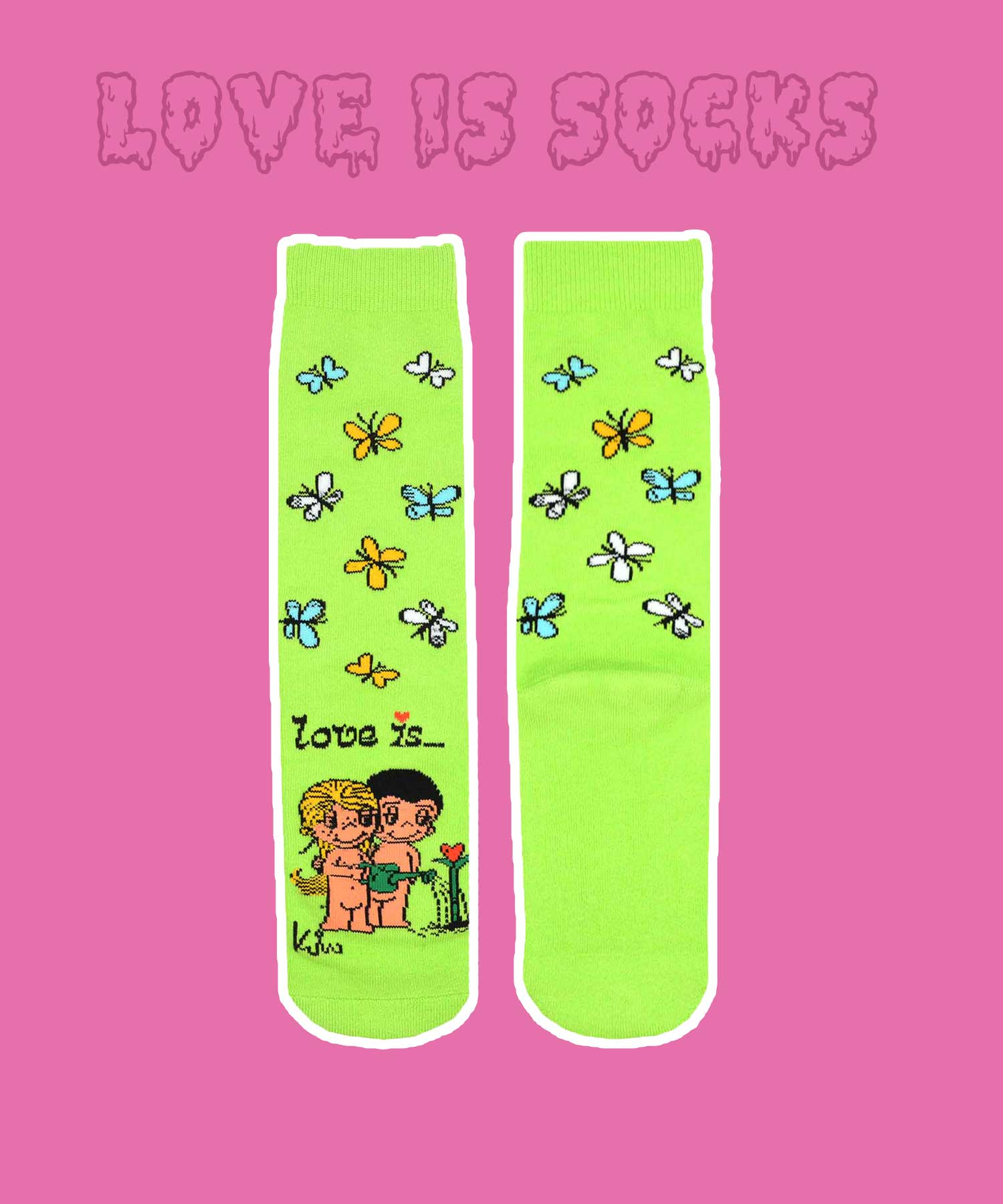 LOVE IS - SUMMER LOVE SOCKS