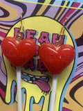 Love Red Heart Lollipop Earrings