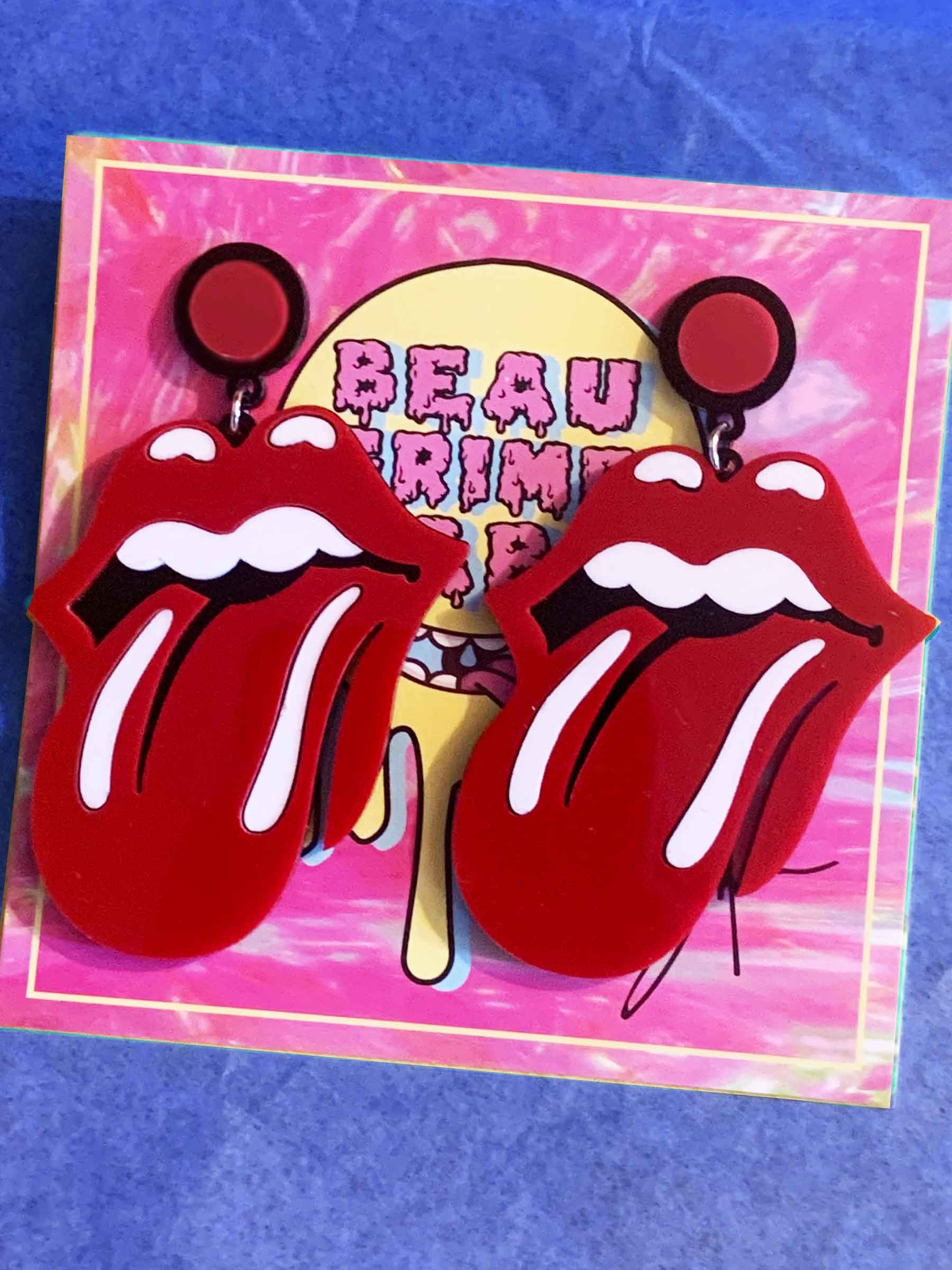 Rolling Stones Lips Earrings