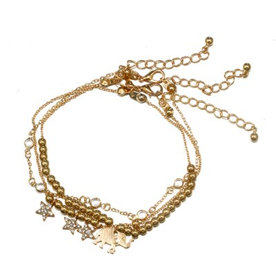 Our Bohemian Elephant Star Anklet Set