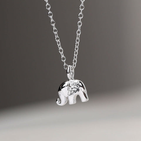 925 Sterling Silver Lucky Elephant Necklaces