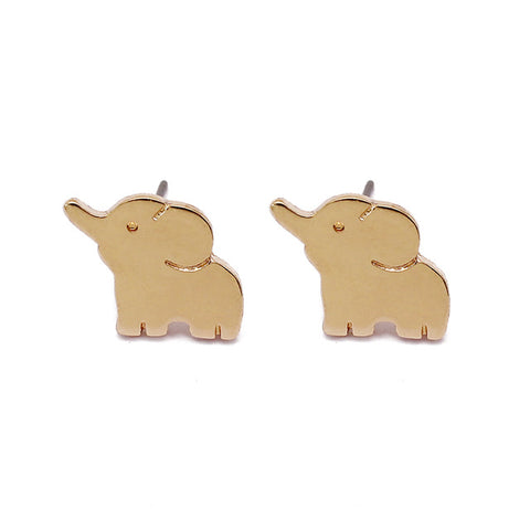 Cute Lucky Elephant Earrings (Gold Plated) or Silver