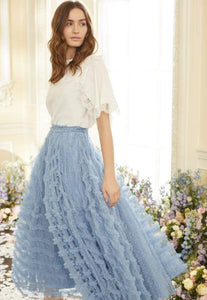 Florence Ruffle Ankle Skirt