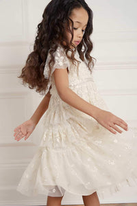 Angelica Lace Kids Dress - Beige