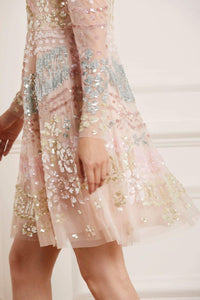 Angeline Sequin Dress - Pink
