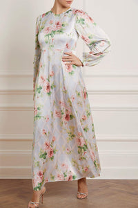 Audrey Harlequin Rose Gown