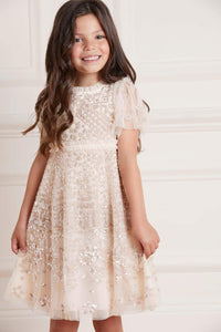 Aurora Kids Dress - Gold