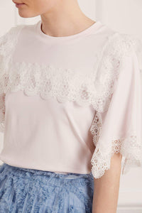 Bettina Lace Tee - Pink