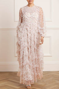 Bijou Rose Long Sleeve Gown