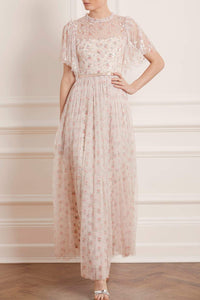 Bijou Rose Sequin Bodice Maxi Dress