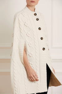 Bonnie Cable Cape - Cream