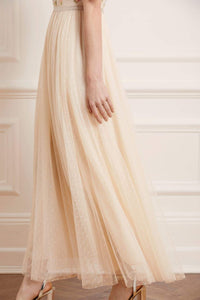 Emma Ditsy Bodice Ankle Maxi Dress