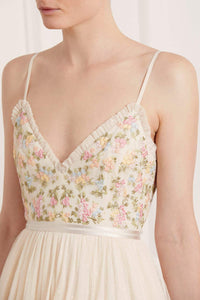 Emma Ditsy Bodice Cami Maxi Dress