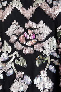 Harlequin Rose Sequin Top