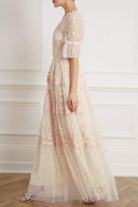 Midsummer Lace Gown - Beige