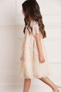Midsummer Lace Kids Dress - Beige