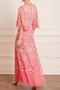 Regency Garden Gown - Dark Pink