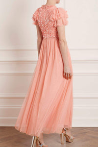 Shirley Ribbon Bodice Ankle Maxi Dress