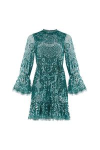 Snowdrop Mini Dress - Dark Green