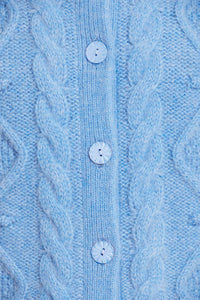 Sylvie Cable Short Cardigan - Blue