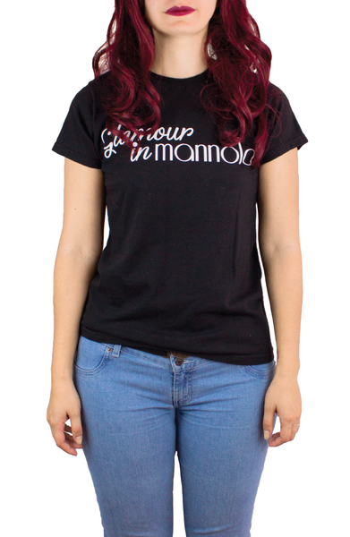 GLAMOUR IN MANNOLA BLACK TEE