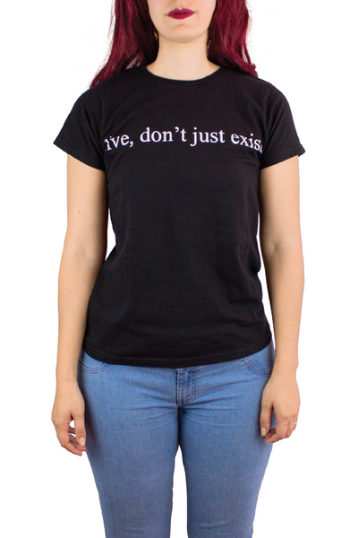 LIVE DON´T JUST EXIST BLACK TEE