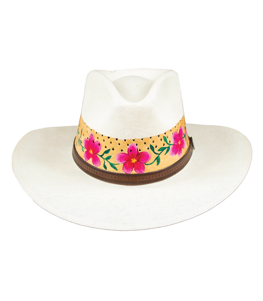 ROSAS SOBRE SOMBRERO HOLLYWOOD STYLE