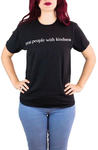 TREAT PEOPLE WHIT KINDNESS BLACK TEE