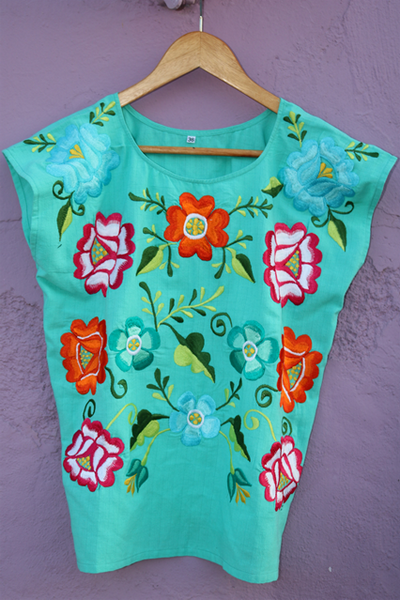 Blusa Frida Color Turquesa